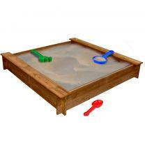 Zandbak hout vierkant