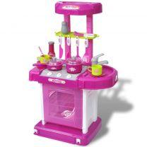 Kinderspeelkeuken met licht- en geluidseffecten roze