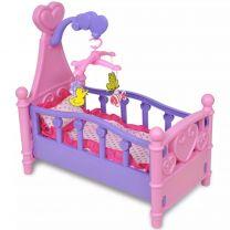 Poppenbed voor kinderen kinderkamer roze + paars